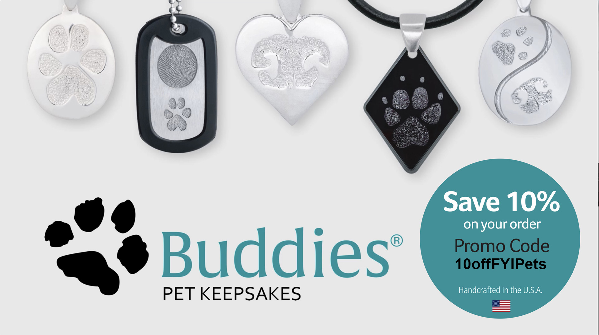 When Your BFF Is Furry: Celebrate Your Pet with Customizable Buddies™ Keepsakes Featuring a Nose, Paw or Claw